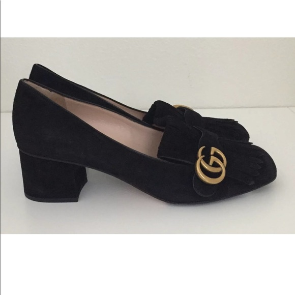 13c03bf520f Gucci Shoes - Gucci Marmont loafer pumps 9 worn once - inside!